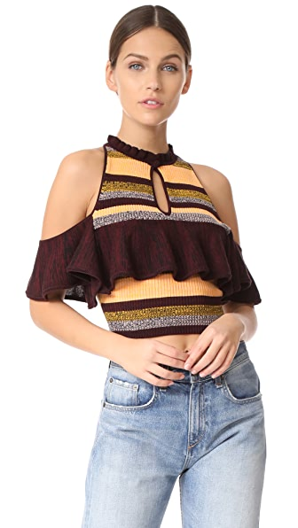 Apiece Apart Knit Cold Shoulder Top