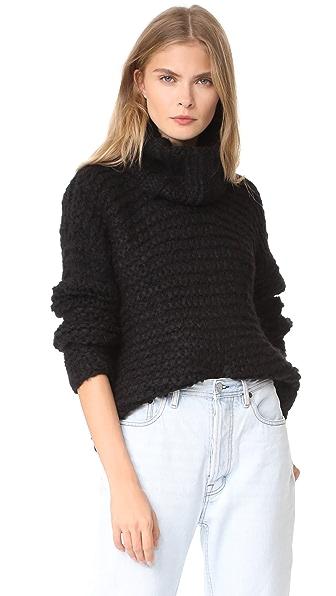 Apiece Apart Nepenthe Alpaca Turtleneck Sweater - Black