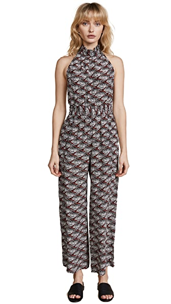 Apiece Apart Archer Backless Jumpsuit In Clay Fans
