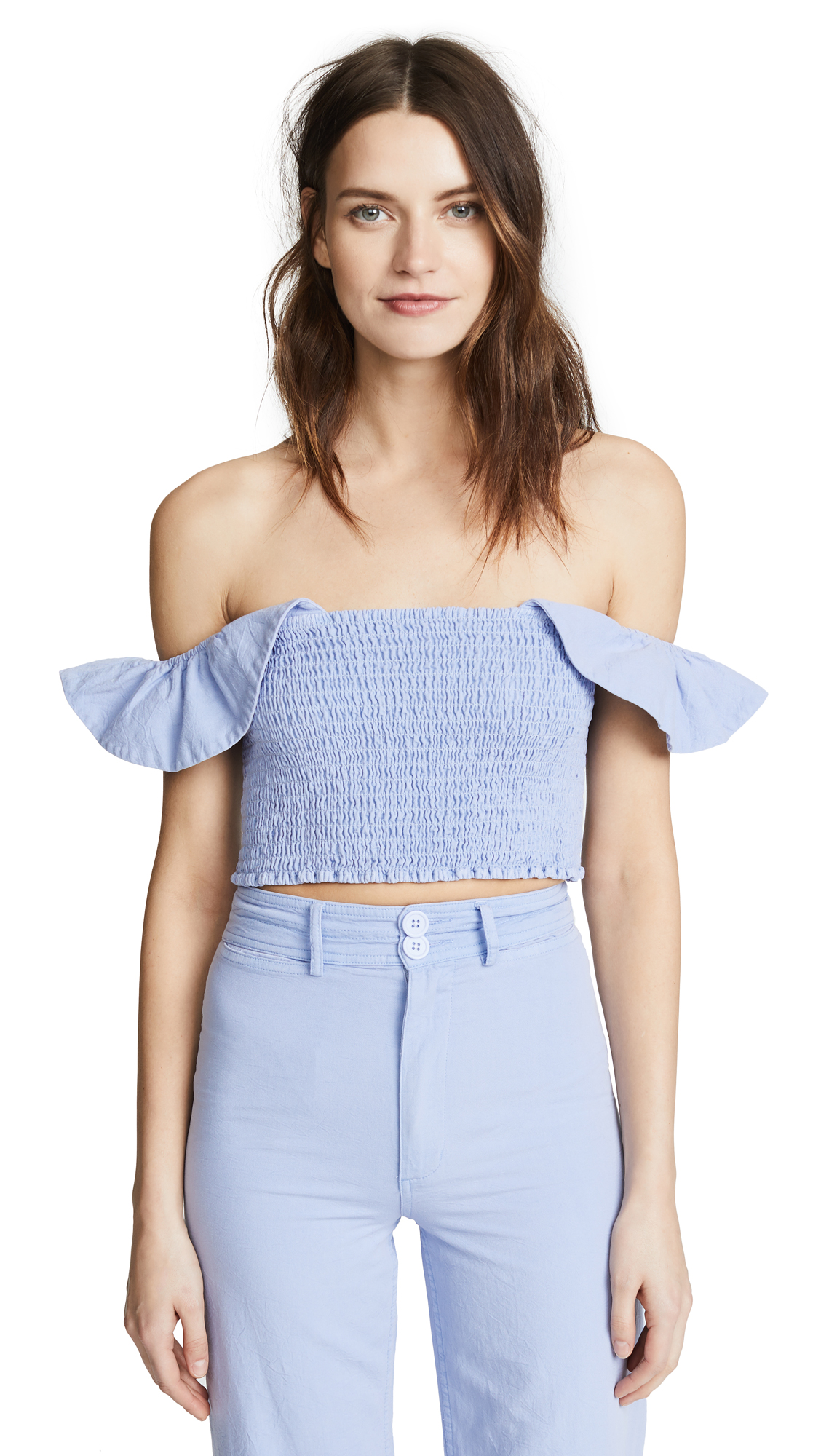 Apiece Apart Lamu Smock Top In Lilac