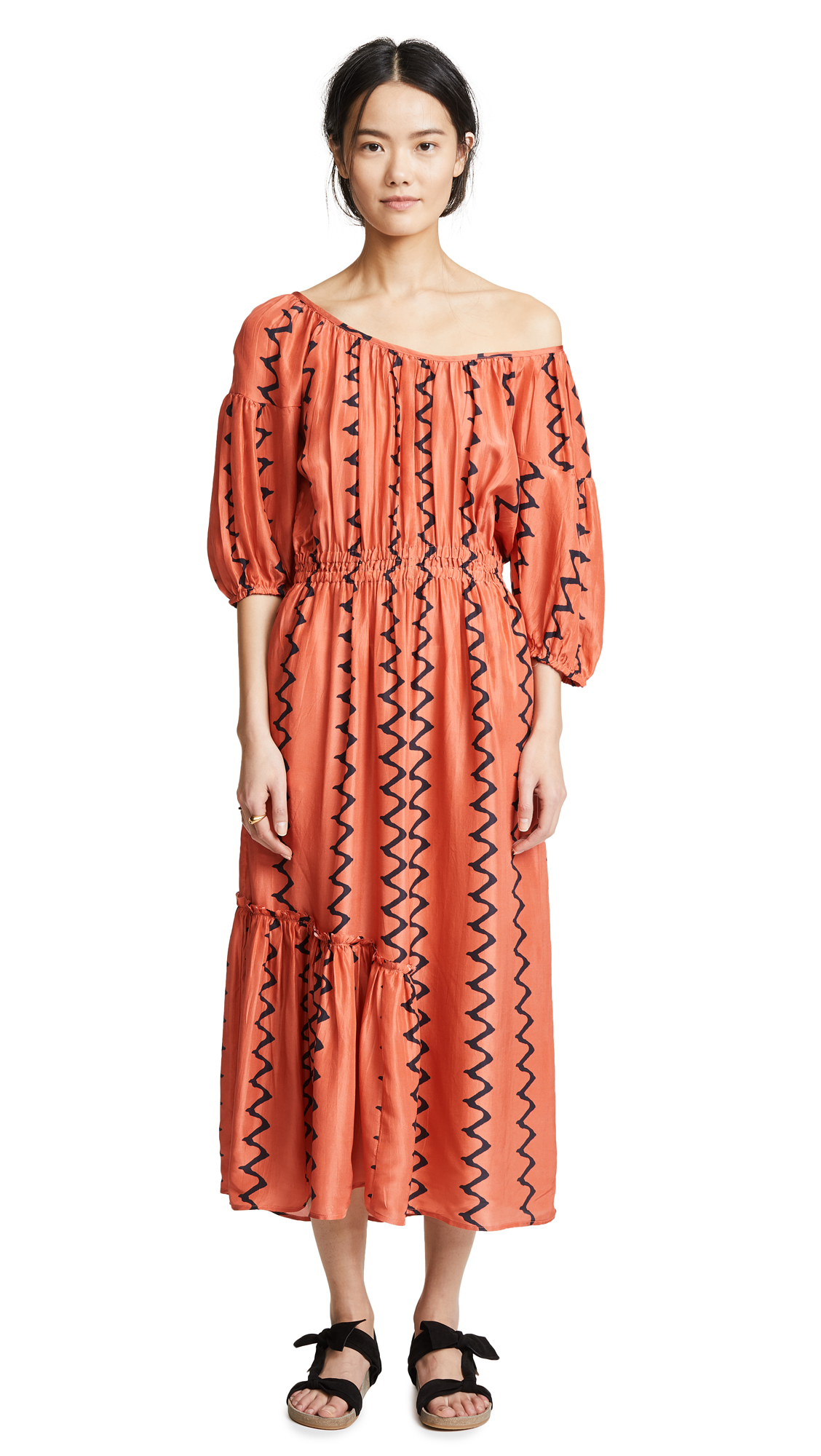 Apiece Apart Camellia One Shoulder Dress