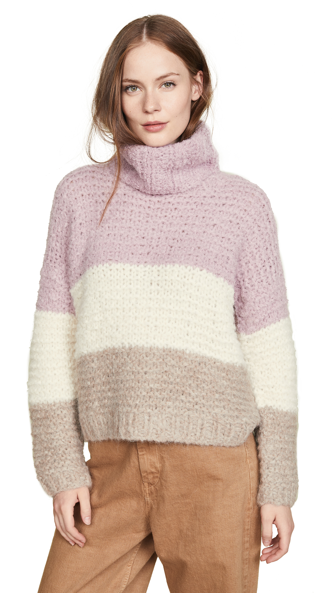 Apiece Apart Artisanal Sweater In Colorblock