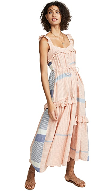 Photo of  Apiece Apart Lypie Ruffle Tank Dress - shop Apiece Apart dresses online sales