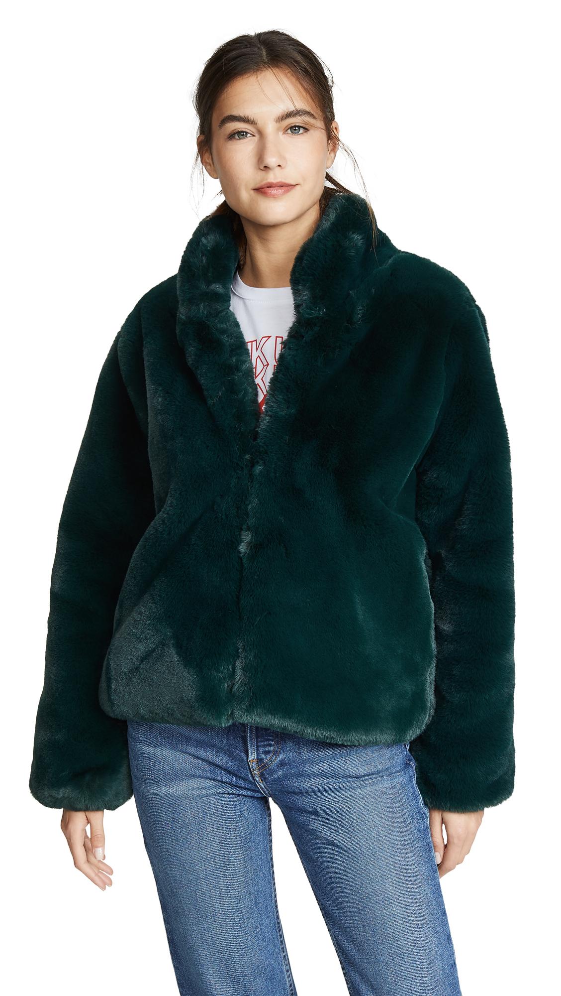 Apparis Julie Coat - Emerald Green
