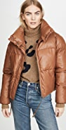 Apparis Camila Vegan Leather Puffer Jacket