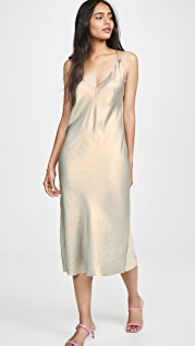 AqC 橄榄绿吊带连衣裙