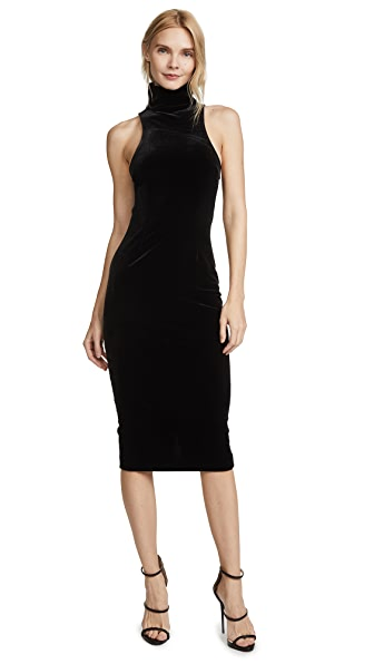 AQ/AQ Hale Midi Dress In Black