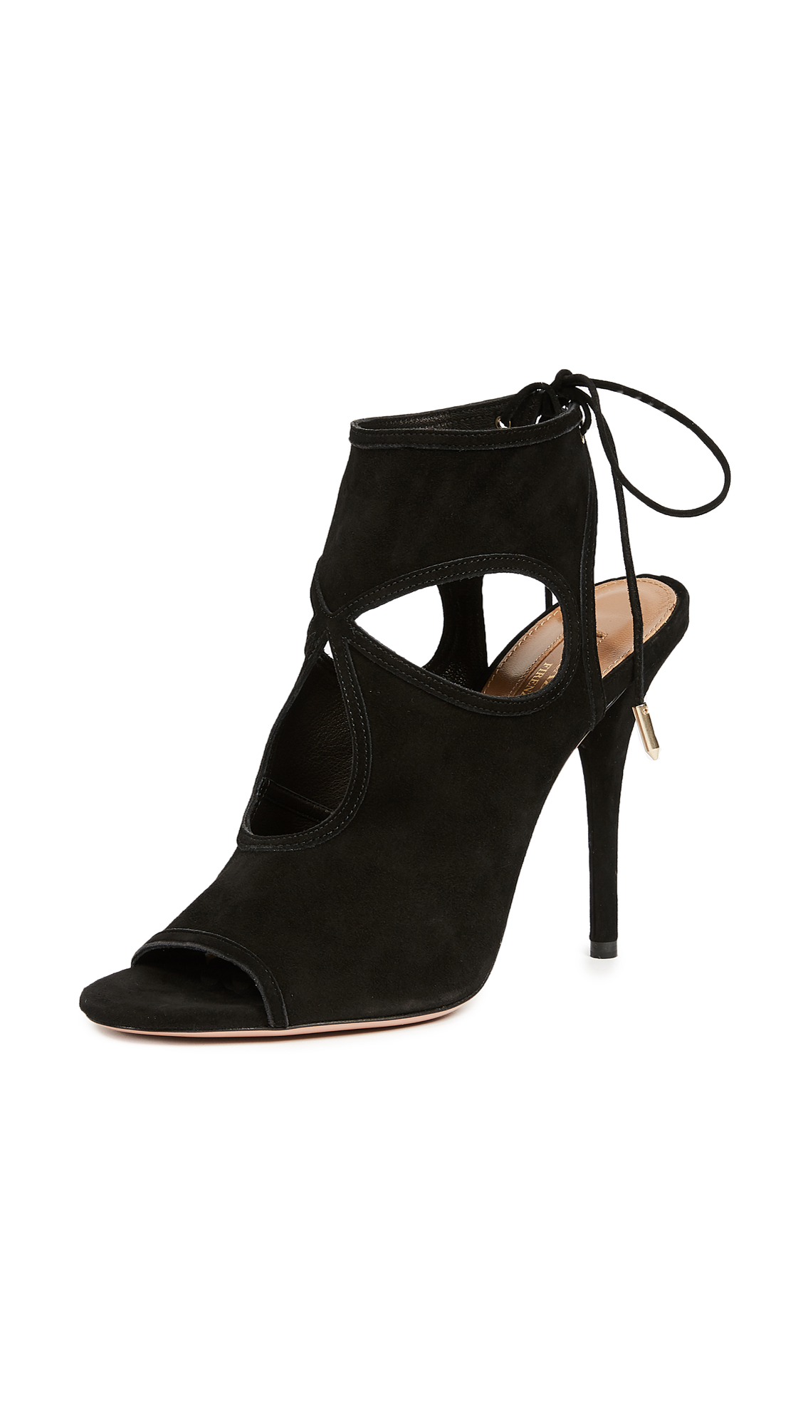 Aquazzura Sexy Thing Cutout Booties - Black