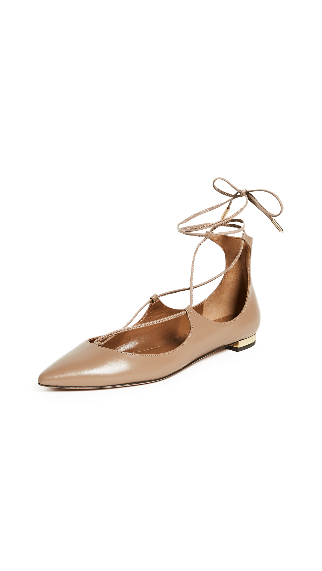 Aquazzura Christy Flats - Biscotto