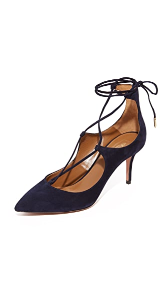 Aquazzura Christy 75 Pumps - Ink