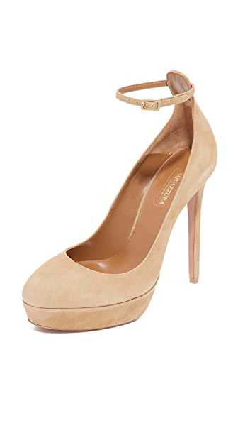 Aquazzura Taylor Plateau Pumps - Cappuccino at Shopbop