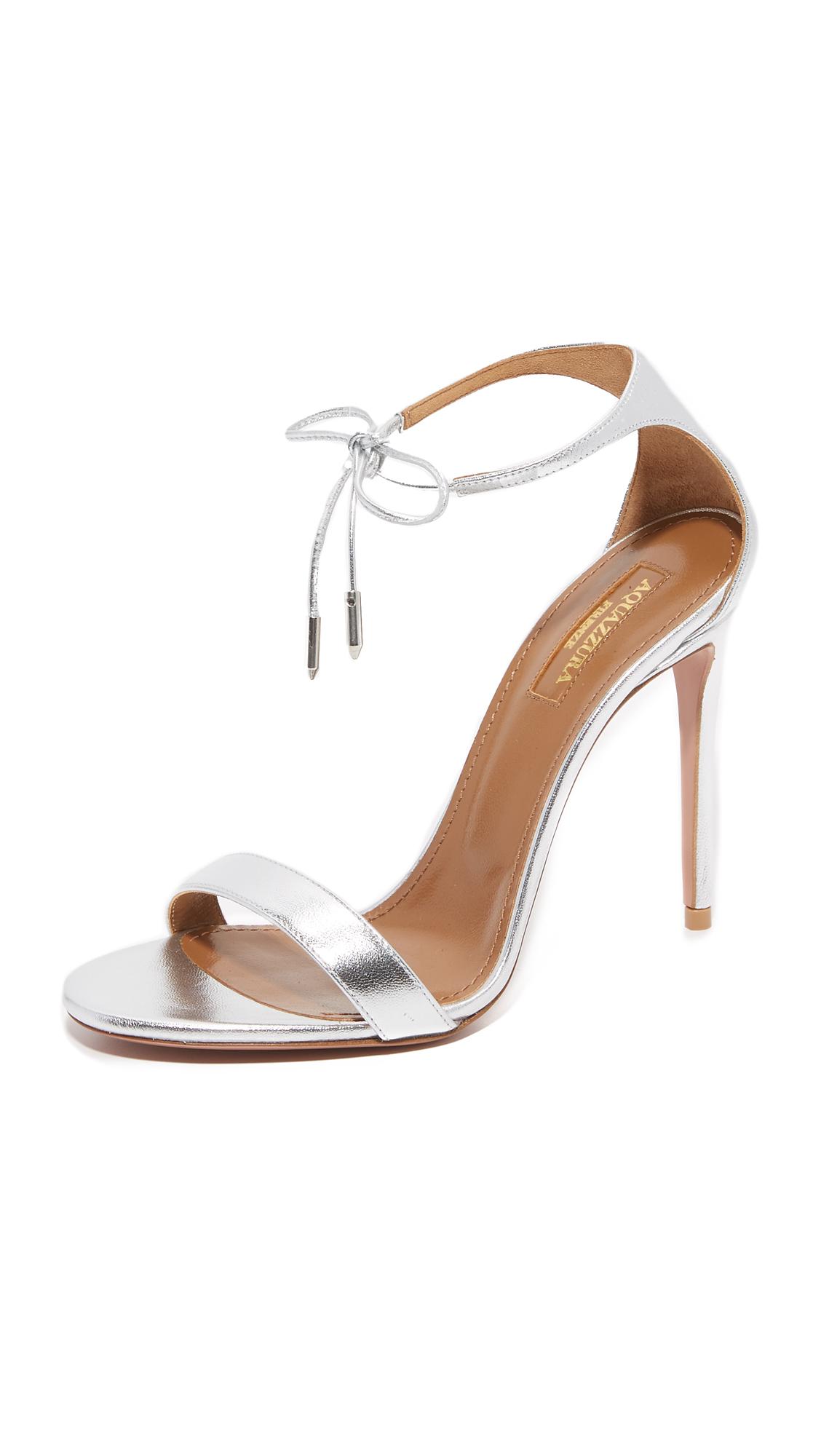 Aquazzura Dasha Sandals - Silver at Shopbop