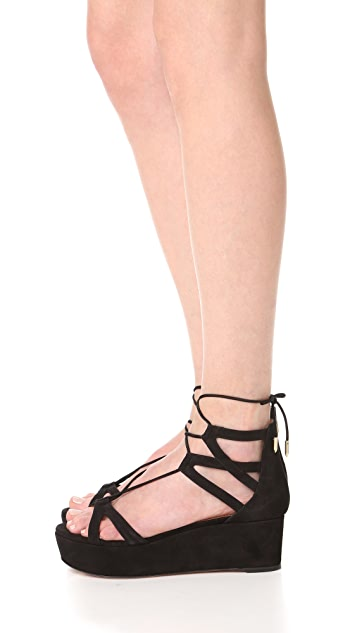Aquazzura Beverly Hills Flatform Sandals