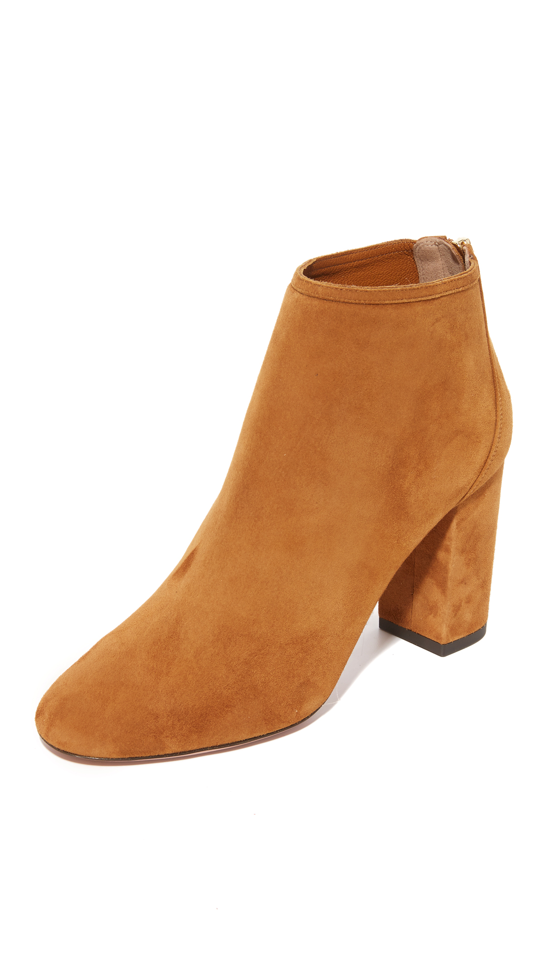 Aquazzura Downtown Booties - Cognac