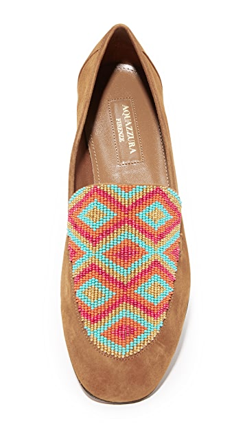 Aquazzura Beaded Loafers
