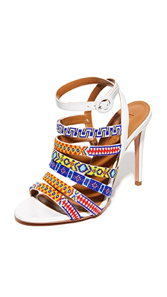 Aquazzura Beaded Sandals