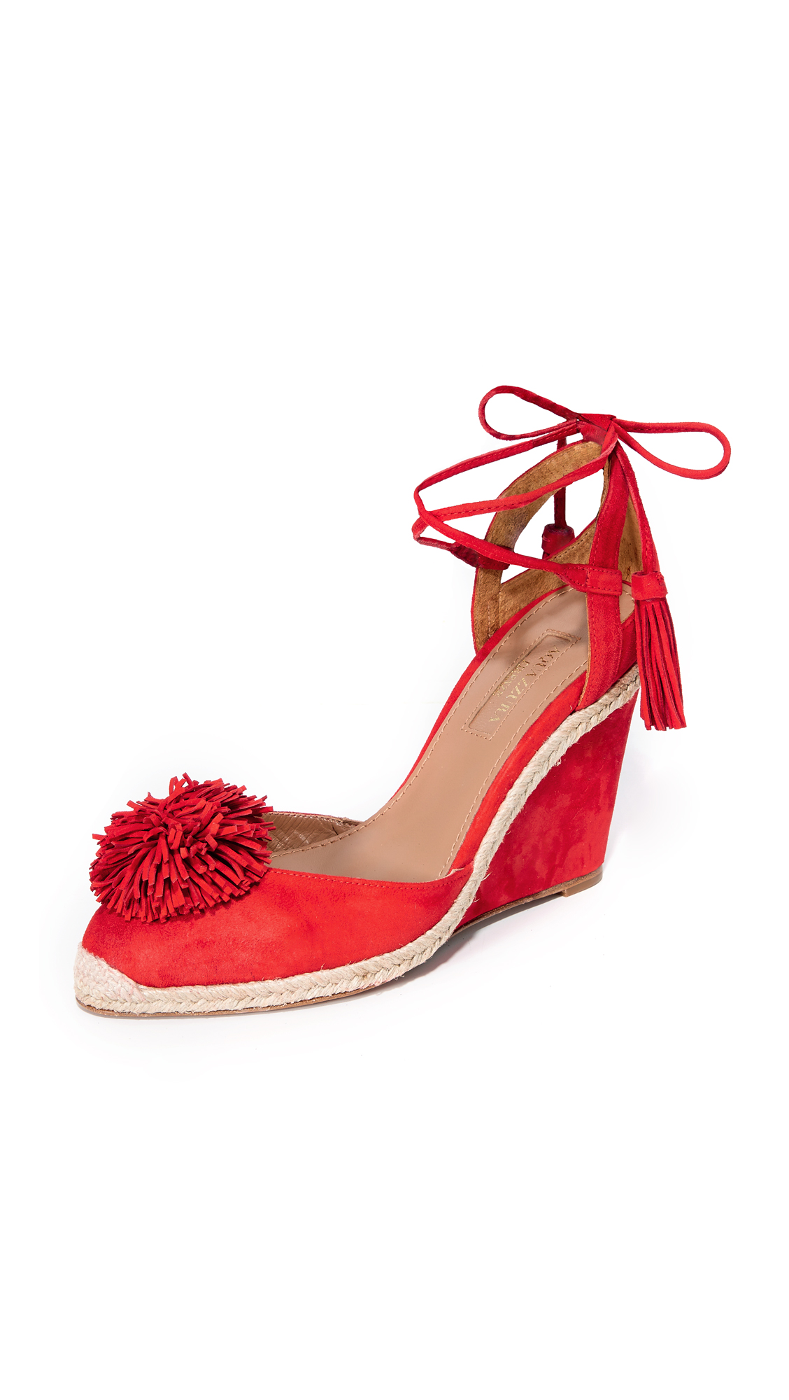 Aquazzura Sunshine Wedge Espadrilles - Lipstick