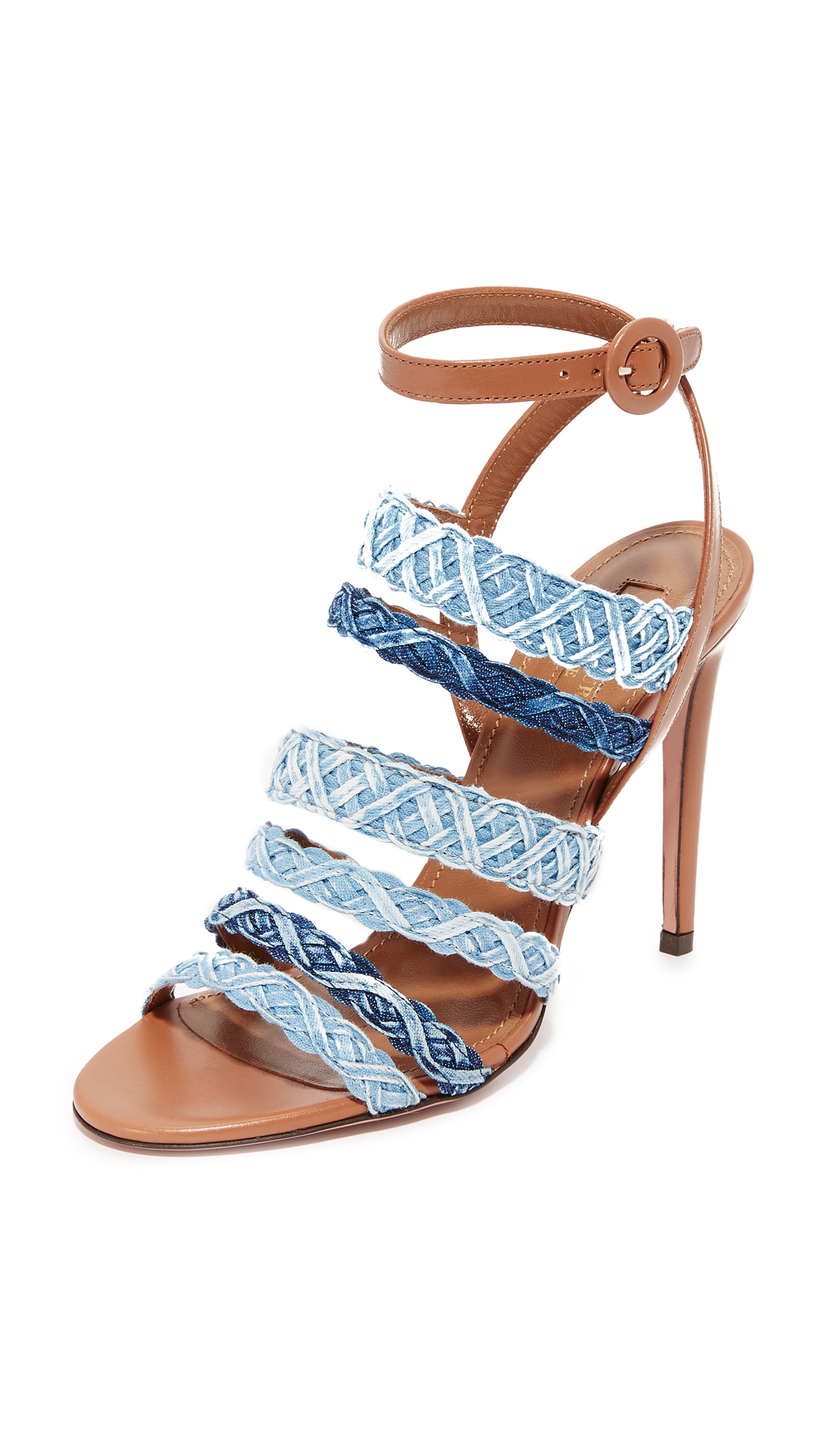 Aquazzura Tyra Sandals - Whiskey/Jean