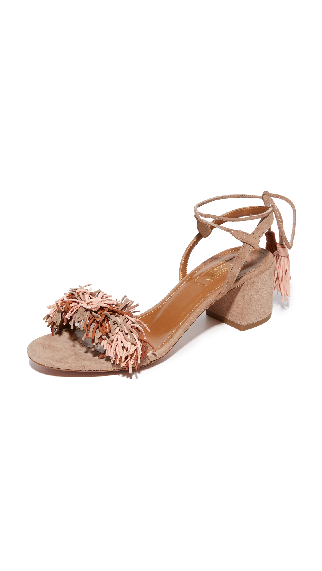Aquazzura Wild Thing City Sandals - Multi Terracotta