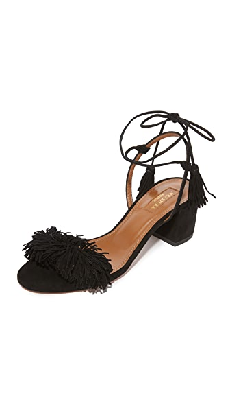 Aquazzura Wild Thing City Sandals - Black