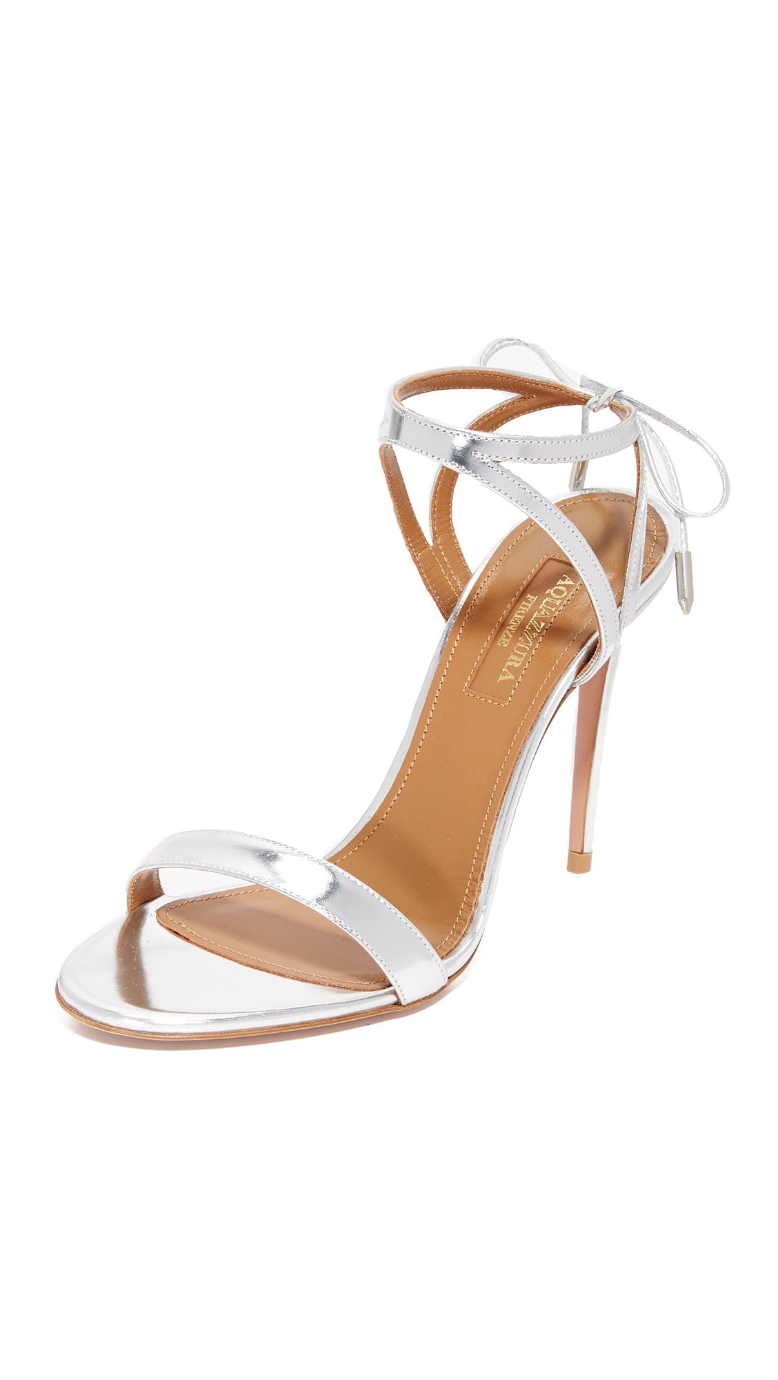Aquazzura Uma Sandals - Silver
