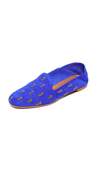 Aquazzura Ananas Summer Loafers - Aquazzura Blue