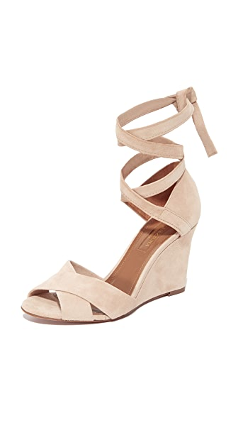 Aquazzura Tarzan 85 Wedge Sandals - Nude