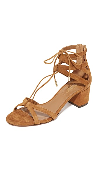 Aquazzura Beverly Hills 50 Sandals - Cognac