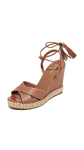 Aquazzura Paraty Espadrille Wedges - Whiskey