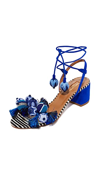 Aquazzura Tropicana Sandals - Multi Blue