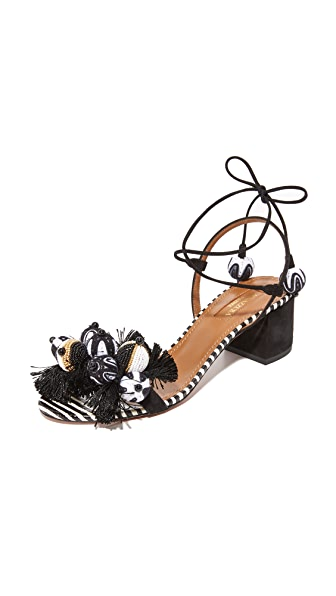 Aquazzura Tropicana 50 Sandals - Multi Black