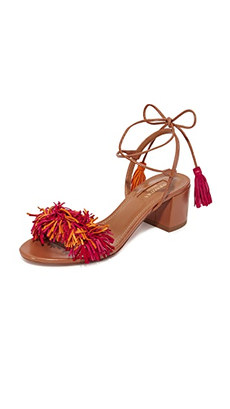 Aquazzura Wild Thing Sandals - Whiskey/Multi Red