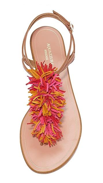 Aquazzura Wild Thing Flat Sandals