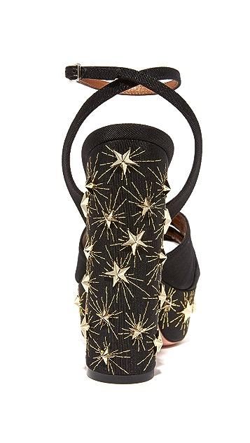 Aquazzura Mira Plateau 140 Stars Sandals