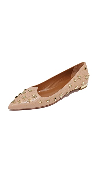 Aquazzura Cosmic Star Flats - Powder Pink