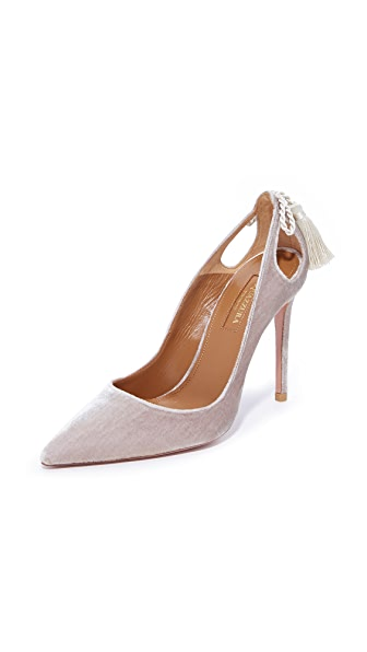 Aquazzura Forever Marilyn 105 Pumps - Light Grey