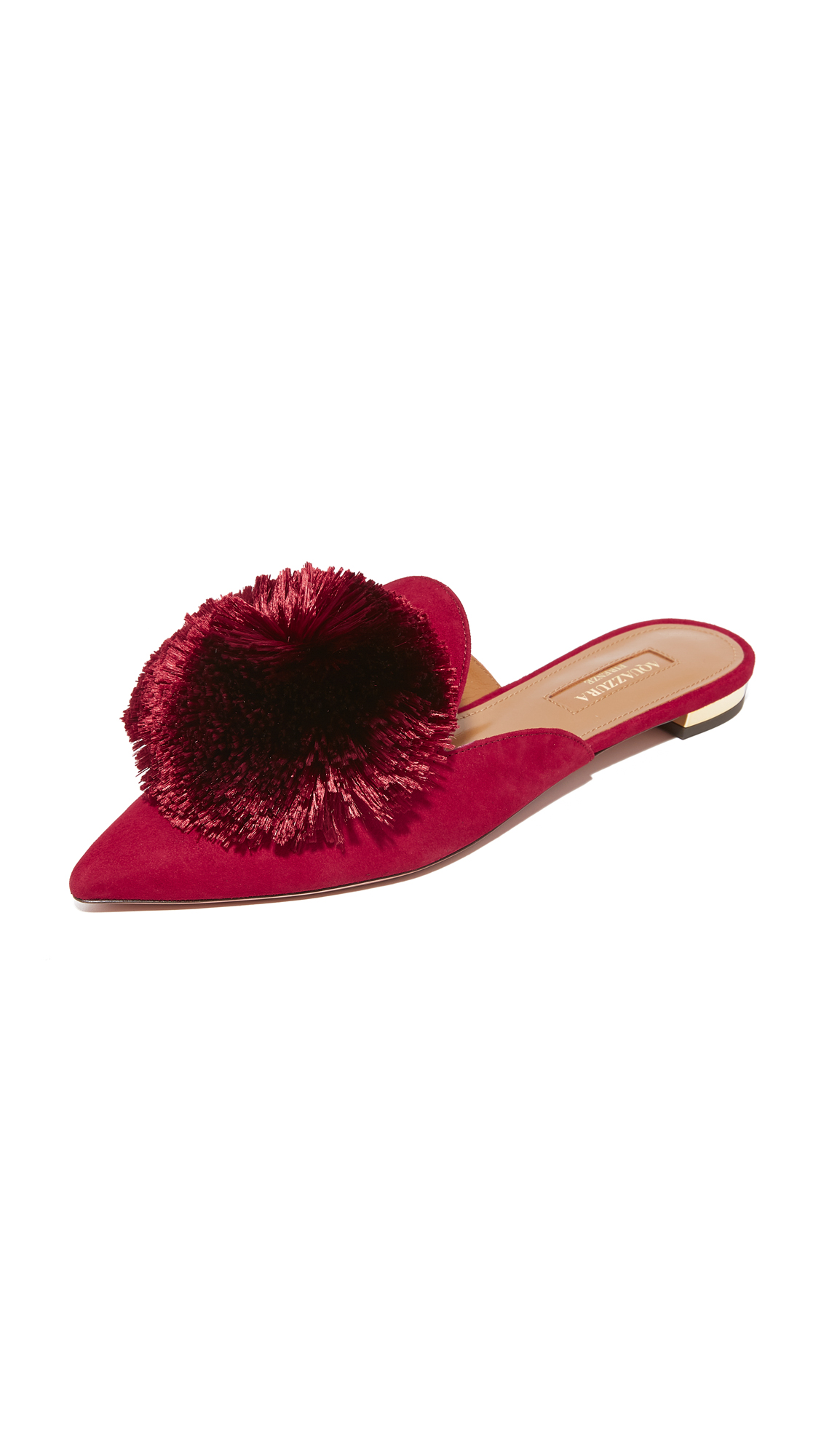 Aquazzura Powder Puff Flats - Spiced Red