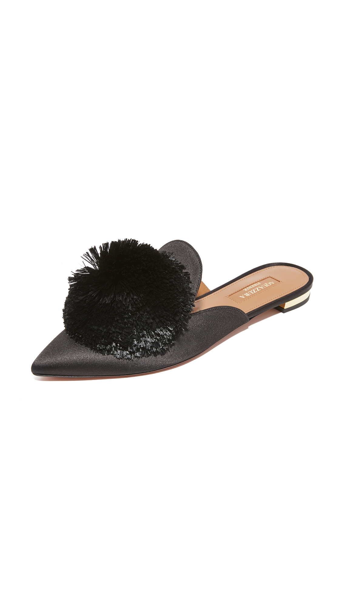 Aquazzura Powder Puff Flats - Black