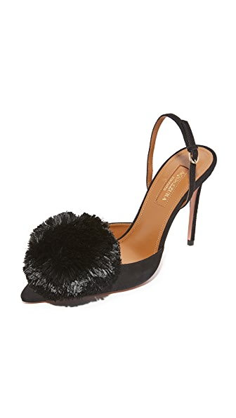 Aquazzura Powder Puff 105 Sling Pumps - Black