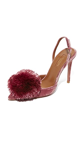 Aquazzura Powder Puff 105 Sling Pumps - Antique Rose