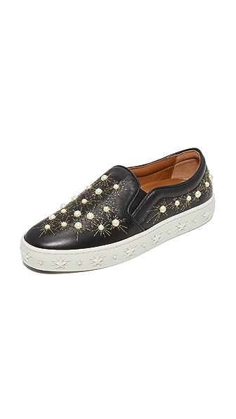 Aquazzura Cosmic Slip On Sneakers - Black
