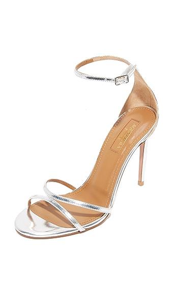 Aquazzura Purist 105 Sandals - Silver