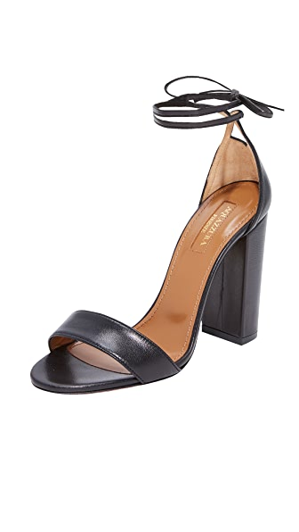 Aquazzura City 105 Sandals - Black