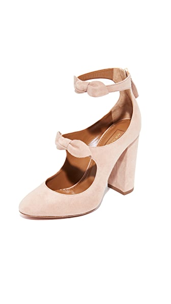Aquazzura Sandy 105 Pumps - Powder Pink