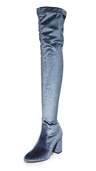 Aquazzura So Me 85 Boots - Sage Grey