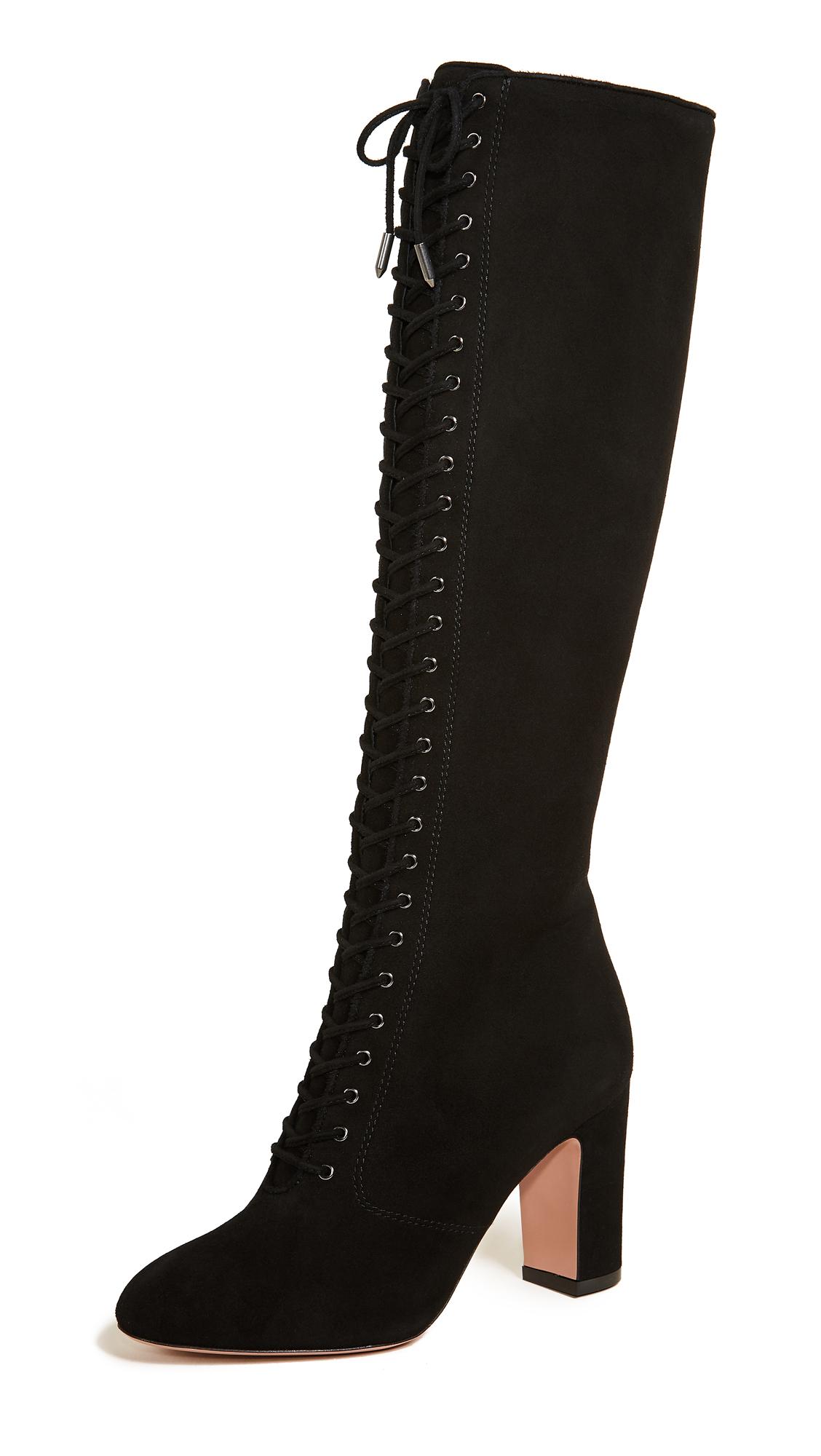 Aquazzura Amber 85 Boots - Black