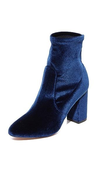 Aquazzura So Me 85 Booties - Caspian Blue