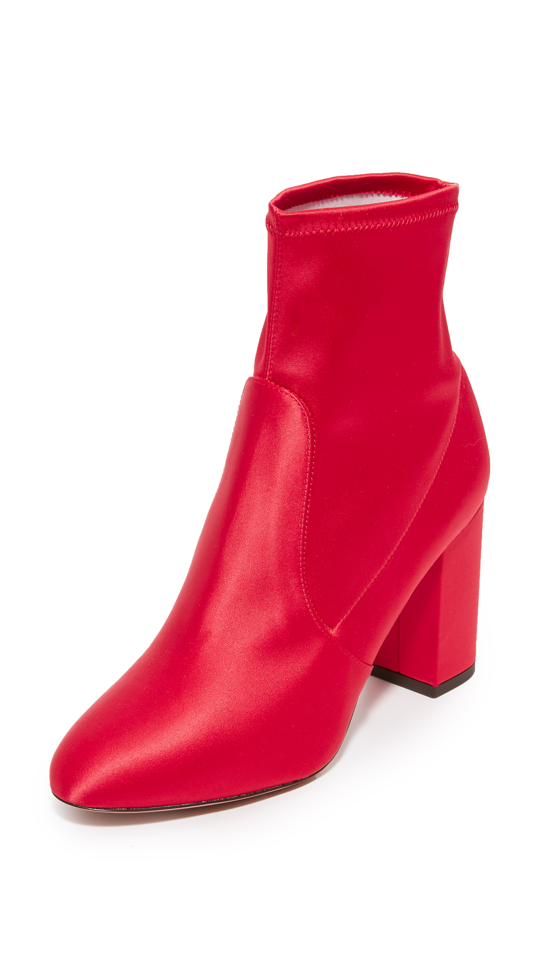 Aquazzura So Me 85 Booties - Spice Red