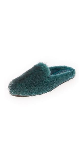 Aquazzura Purr Slippers