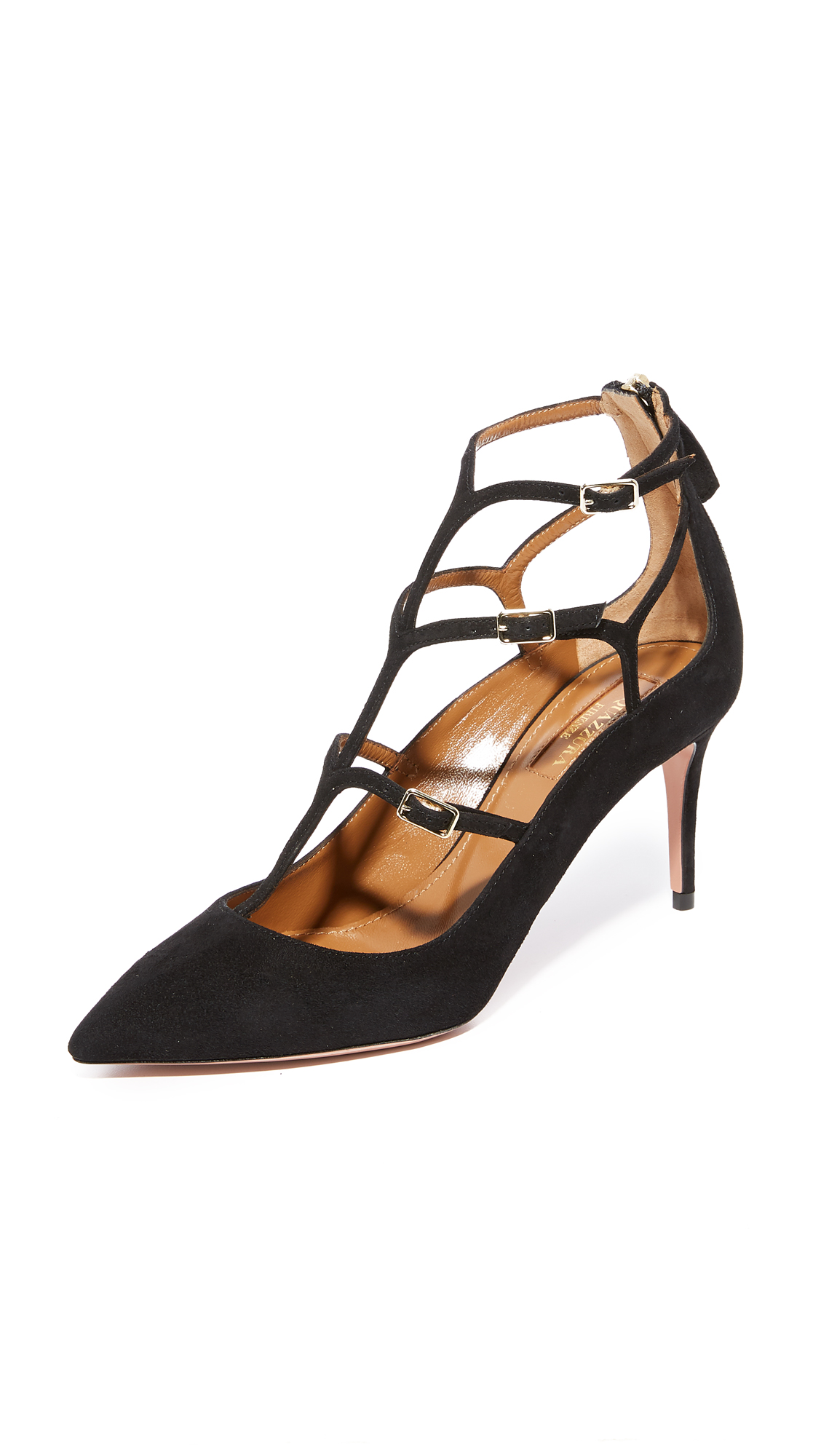 Aquazzura Eternity 75 Pumps - Black